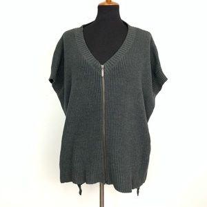 NWOT Express Grey High Low Hem Knit Top One Size